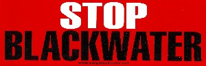 Stop Blackwater Bumper Sticker