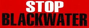 Stop Blackwater Bumper Sticker