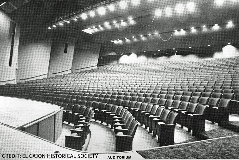 Historical Picture of the auditorium Seating